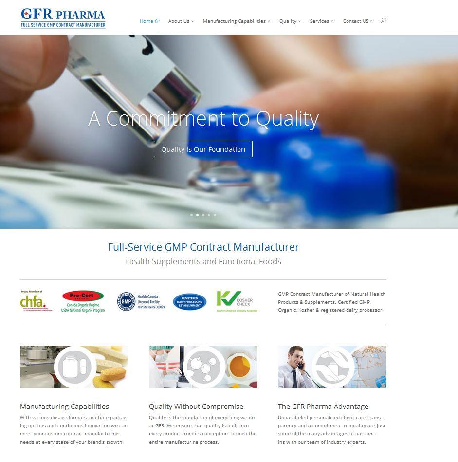 GFR Pharma Website